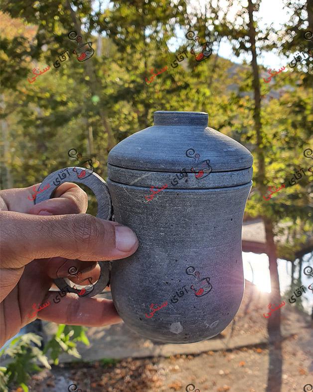 لیوان دمنوش خوری سنگی