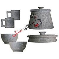 سرویس ظروف سنگی مدل یاقوت ۲ نفره