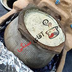 طرز تهیه آش دوغ در دیگ سنگی
