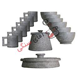 سرویس ظروف سنگی مدل یاقوت ۶ نفره